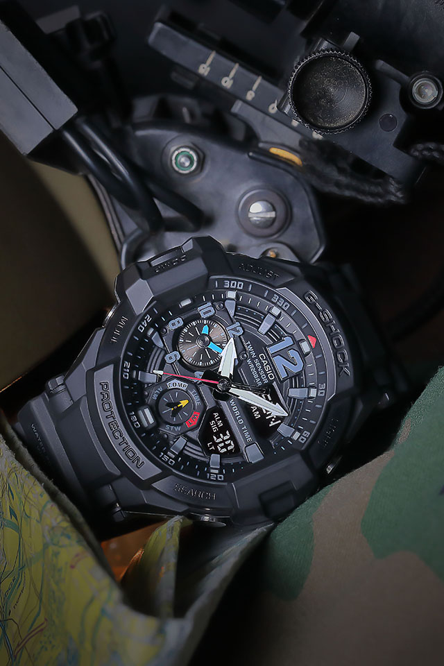 [Live Photos] G-Shock GA-1100-1A1 — New Color Addition Gravitymaster Series