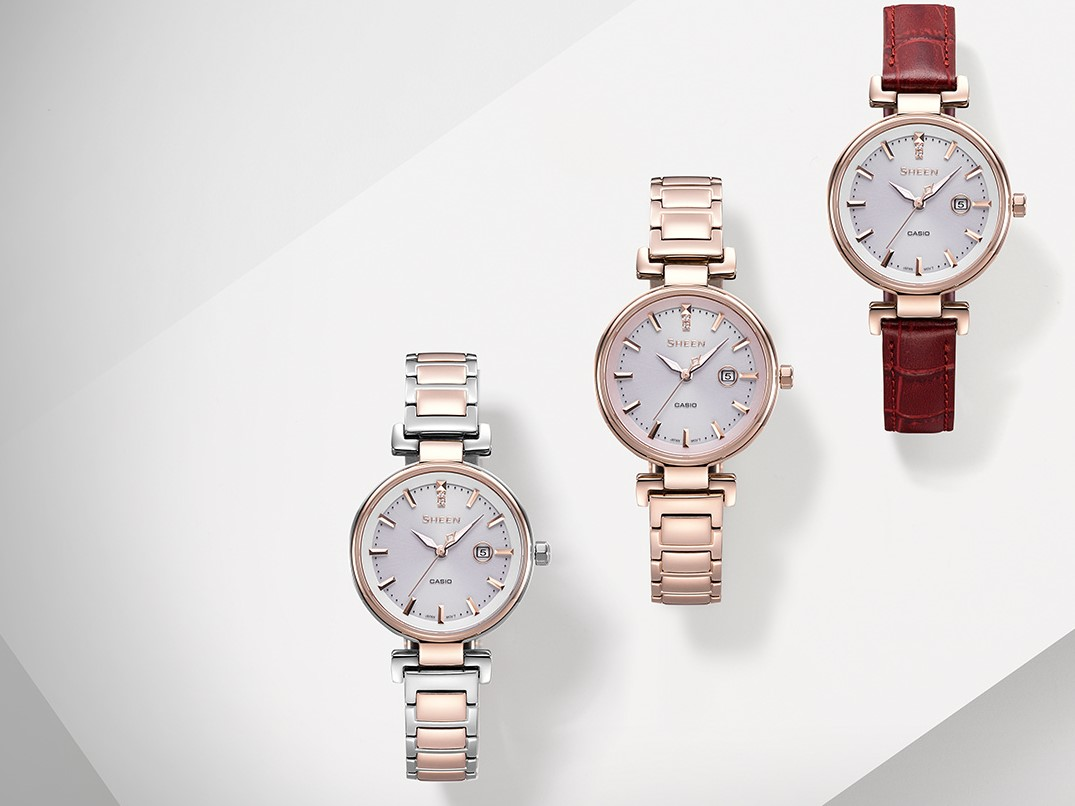 [Live Photos] Sheen SHS-4524CG Metal Watch with Elegant, Feminine Look