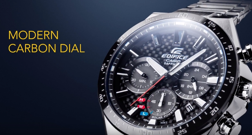 [Video] Edifice EFS-S520CDB — Solar powered and equipped with sapphire crystal
