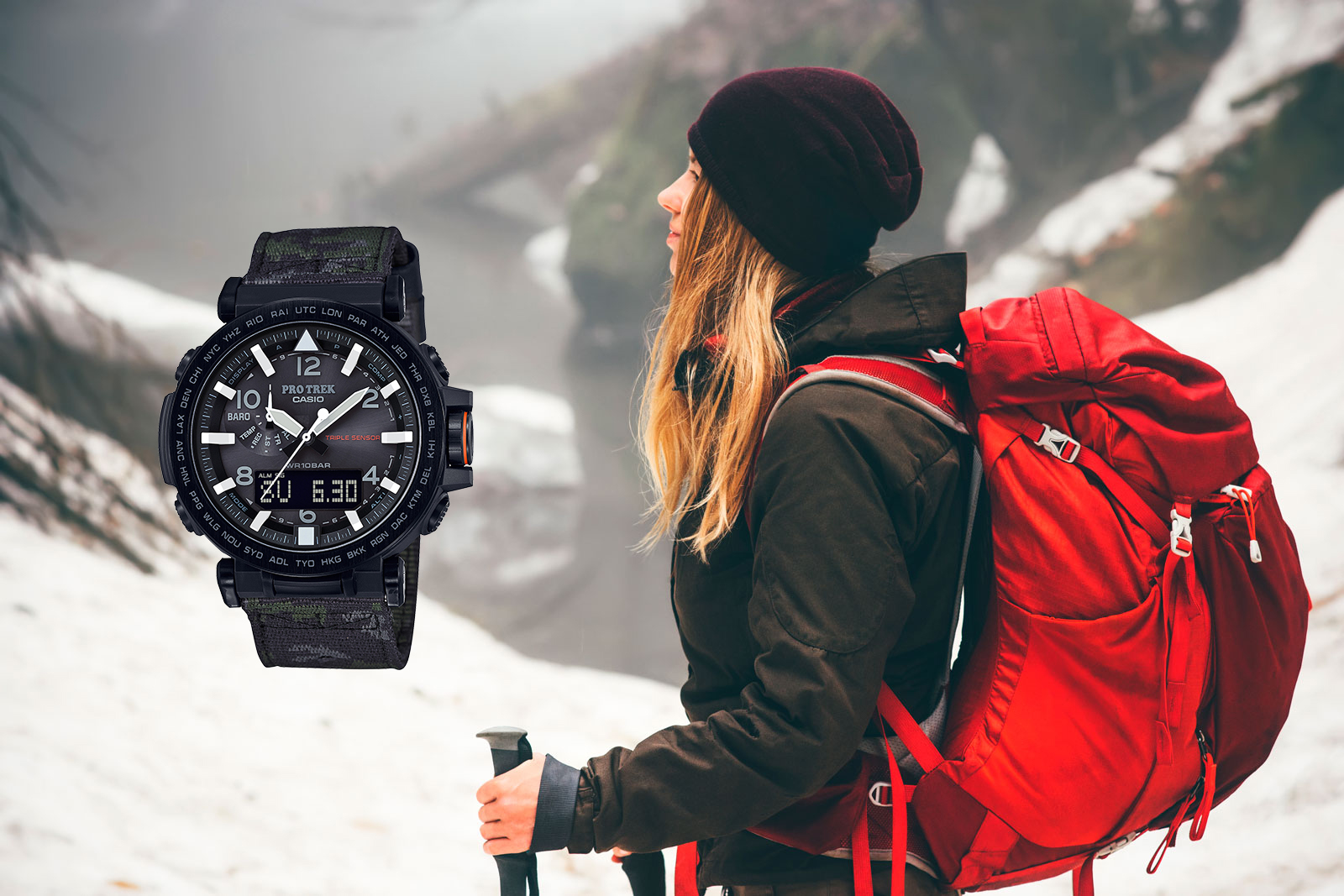 [Live Photos] ProTrek PRG-650YBE-3 and WINTER HIKING SAFETY TIPS