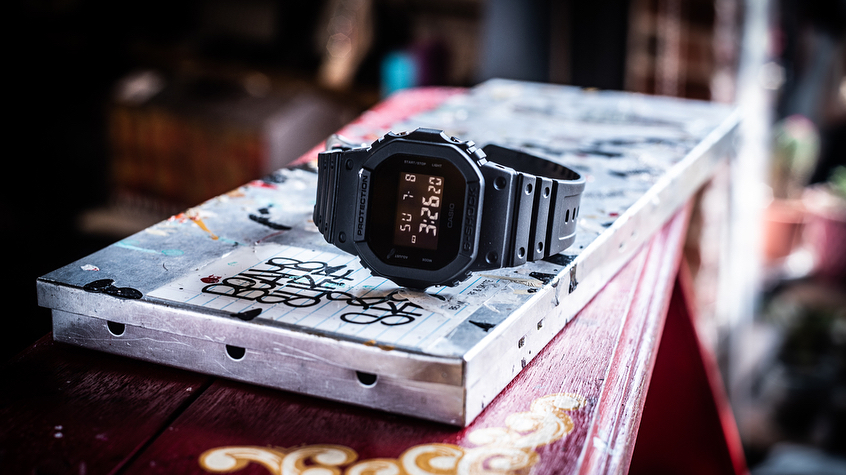 [Live Photos] G-Shock DW-5600BB-1 and Ryuta Tanabe