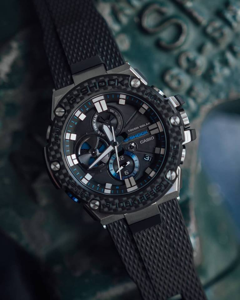 G Shock G Steel Gst B100xa 1a With Carbon Fiber Bezel