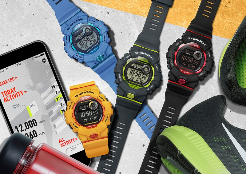 [Live Photos] G-Shock GBD-800 and Baby-G BSA-B100 with plenty of sports functions