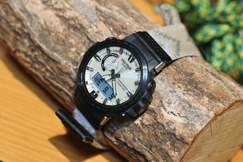 [Live Photos] ProTrek PRW-60YGE-1A with dura soft and cloth band