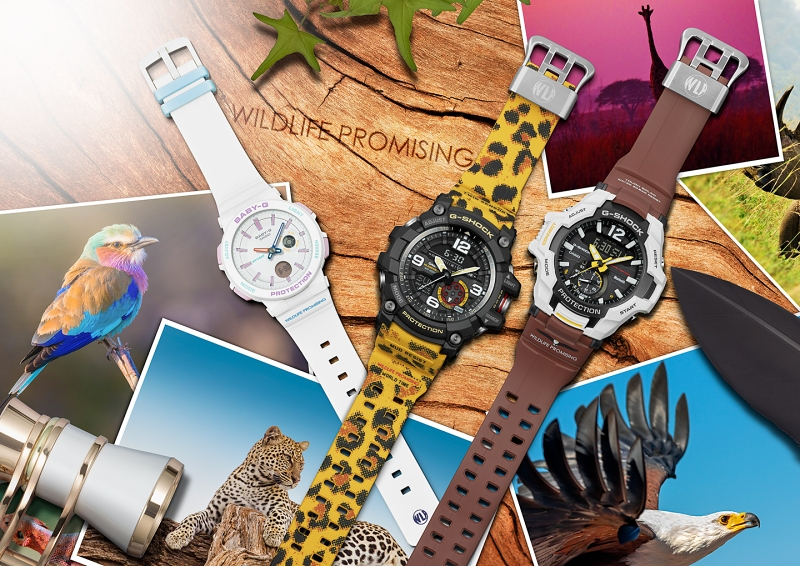 "[Live Photos] G-Shock and Baby-G Collaboration Models — ""WILDLIFE PROMISING"""