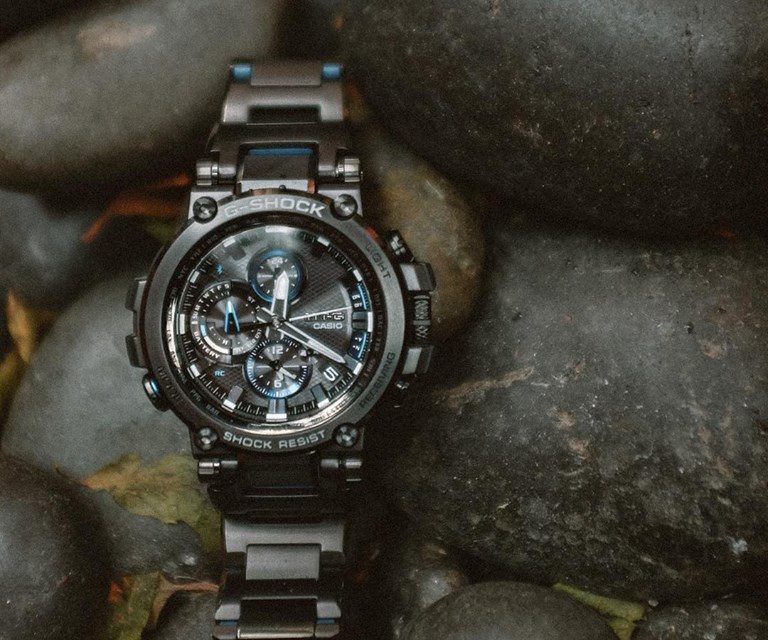 [Live Photos] G-Shock MTG-B1000BD-1A — luxury model with Composite Band