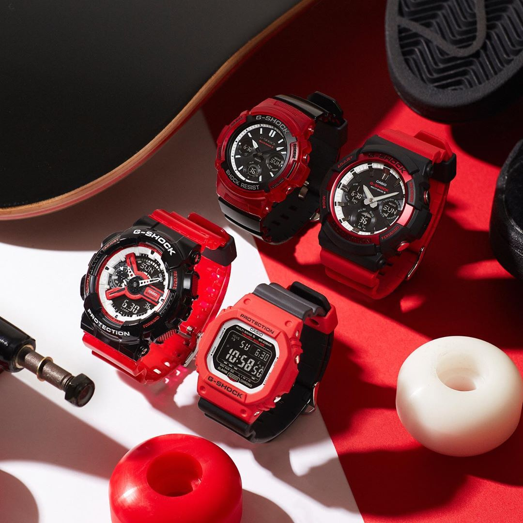 G Shock Black And Red Special Color Series 2019