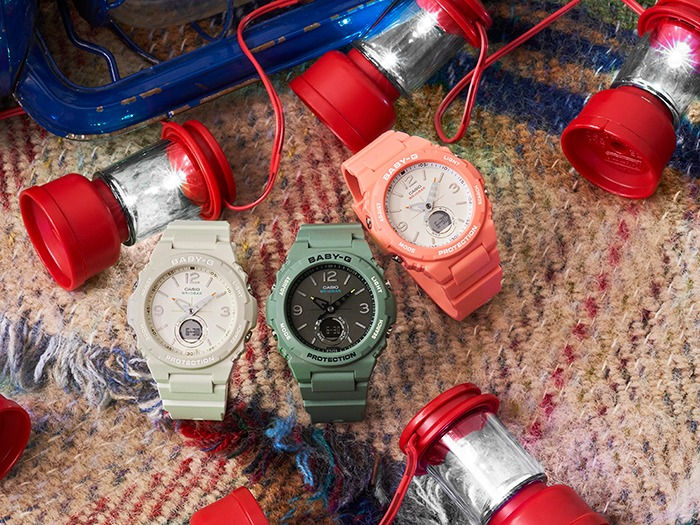 [Live Photos] Baby-G BGA-260 — Vintage-like model for outdoor style