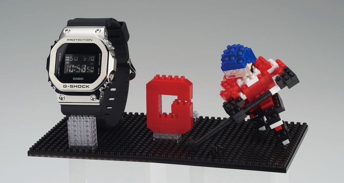 [Live Photos] G-Shock GM-5600 x Nanoblock extreme sports collaboration