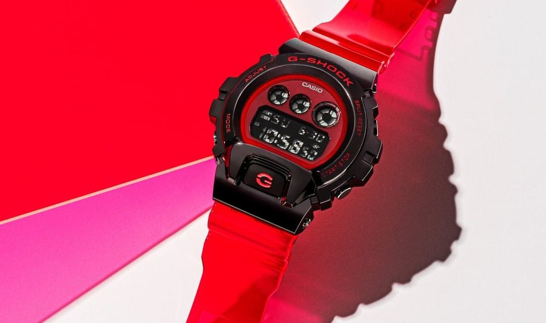 [Live Photos] G-Shock GM-6900B-4 With Red Transparent Band