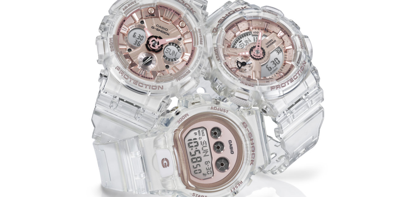 [Official] G-Shock Introduces Stylish Line Up of Transparent and Rose Gold Women's Watches